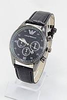 Мужские наручные часы Armani, антрацитовые с чёрным циферблатом