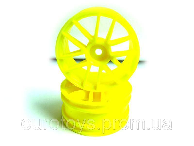 Yellow Spoke Wheel Rims 2P