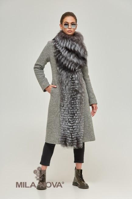 3e44b74632d Шикарное женское пальто с мехом чернобурки (разные цвета) - EveryWear в  Киеве