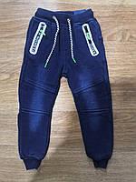 Брюки  под джинс с начесом для мальчиков Seagull 98-128 р.р., фото 1