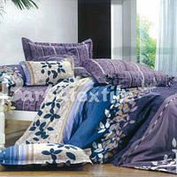 Постельное белье Комплект  «Цветные листики»  (2 спальный)
