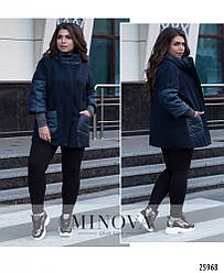 Пальто женское кашемир+плащевка Большого размера(50-62)