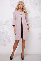 Платье-обманка большого размера, размеры 50-62