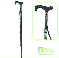 Трость с Т- образной ручкой и ремешком Nova Total E2010AD (темно-коричневый ромб)