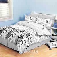 Постельное белье Комплект  «Черно-белая фантазия»  (1,5 спальный)
