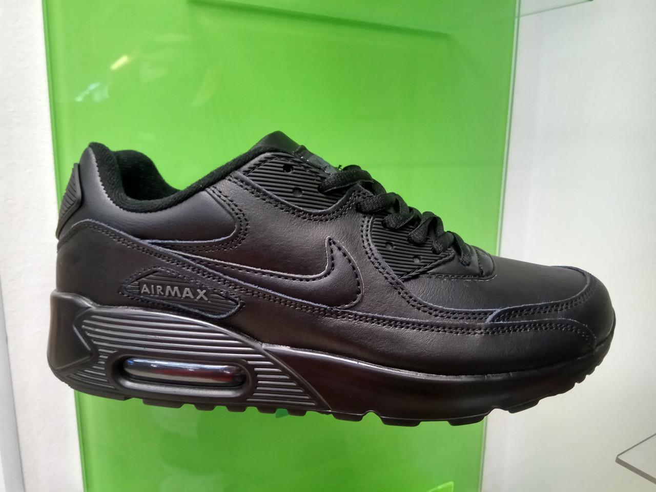 13152843 Мужские кроссовки Nike Air Max 90 Leather black - Интернет магазин  krossovkiweb.kiev.ua