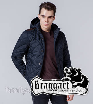 Braggart 1268 | Мужская ветровка черно-синяя, фото 2