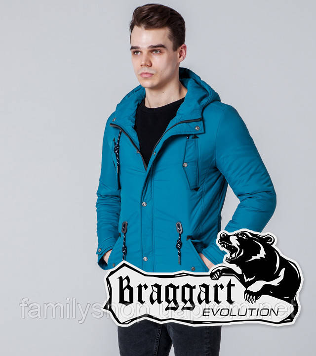 Braggart 1342 | Ветровка мужская бирюзовая