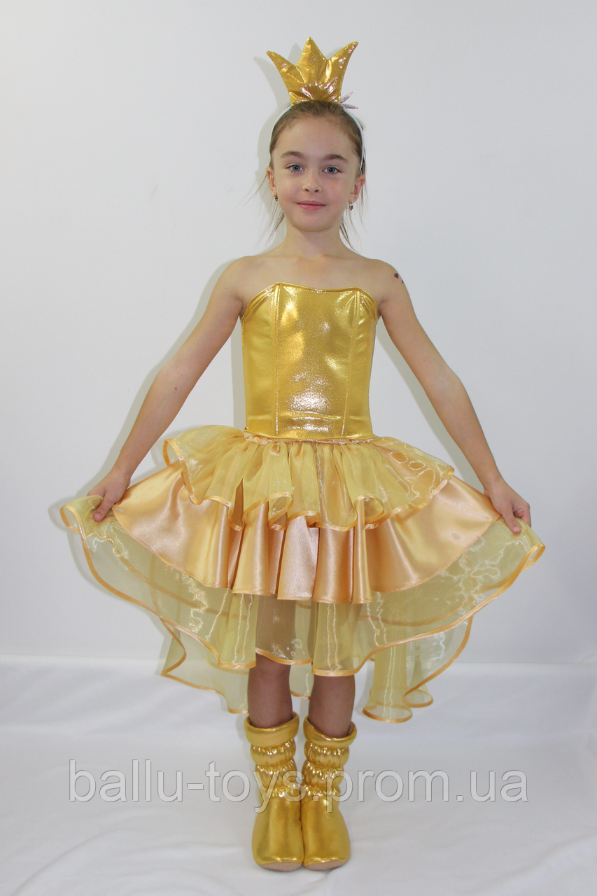 Маскарадный костюм для девочки Золотая рыбка (5-6 лет)