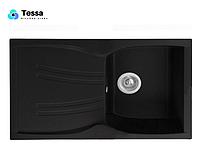 Мойка кухонная  гранитная Tessa Briz black 48002