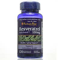 Ресвератрол, Resveratrol 100 mg, Puritan's Pride, 120 капсул
