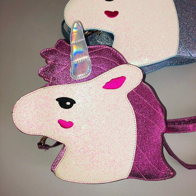 Сумочка через плечо Единорог розовый