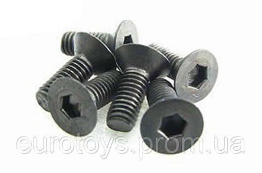 Team Magic 3x8mm Steel F.H. Screw 6p
