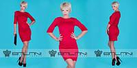 Платье женское красное оптом Фиалент, фото 1