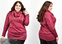 Блуза жіноча з шарфом, з 54-70 розмір