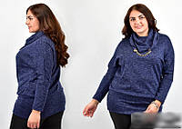 Блуза жіноча з шарфом і прикрасою, з 54-70 розмір