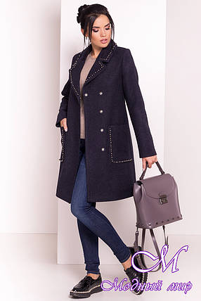 Пальто женское демисезонное кашемир (р. S, M, L) арт. Кейси 5504 - 37033, фото 2