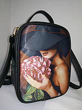 Сумка-рюкзак для вышивки бисером   Рюкзак Модель 1 С 1 черный  кожзам