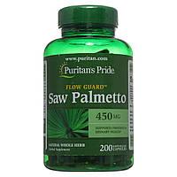 Со Пальметто, Saw Palmetto 450 mg Puritan's Pride, 200 капсул