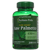 Со Пальметто, Saw Palmetto 450 mg Puritan's Pride, 200 капсул