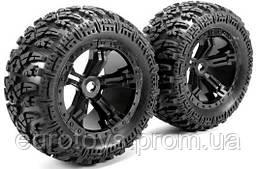 "Team Magic E6 Mounted Tire 7.1""x4.5"" Size Splined wheel hubs"