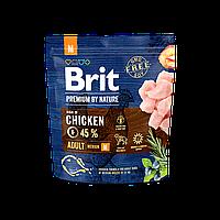 Сухой корм 1 кг для взрослых собак средних пород Брит Премиум / Adult M Brit Premium