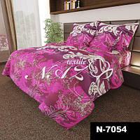 Постельное белье Комплект «Большие фиолетовые завитки» (1,5 спальный )