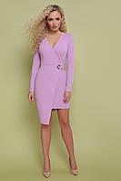 Женское платье на запах, цвет лавандовый, креп-дайвинг