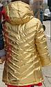 Стильная золотая куртка парка на флисе еврозима (Размер 14Т) Crazy8 (США), фото 2