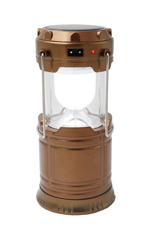 Кемпинговая LED лампа G85 c солнечной панелью бронзовый (2025)
