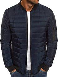 Мужская осенняя курточка синего цвета (люкс копия)