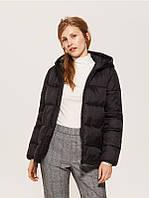 Cтеганая куртка с капюшоном черного цвета ТМ House