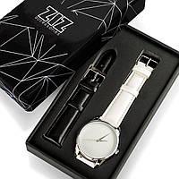 """Часы """"Кокосово-белый минимализм"""" подарок женщине"""