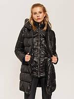 Стеганое пальто черного цвета  TM House