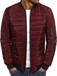 Мужская осенняя курточка красного цвета (люкс копия)
