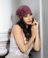 Женская шерстяная шапка с цветами Estera от Willi Польша
