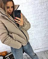 Женская короткая куртка осень-зима, фото 1