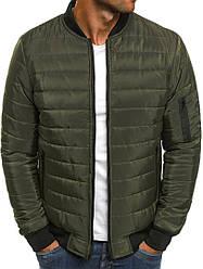 Мужская осенняя курточка зеленого цвета (люкс копия)