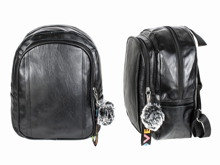 Черный рюкзак женский кожзам