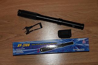 Электрошокер-дубинка Police 1109 (железная шокер-бита,,электродубинка шокер), фото 3