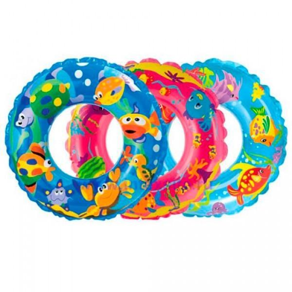 """Детский надувной круг Intex 59242 """"Рыбки"""" (61см)"""