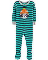 4123a2fbd58d Хлопковый слип человечек пижама Енот Картерс Carter's 1-Piece Raccoon Snug  Fit Cotton PJs