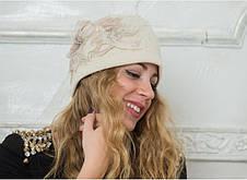 Женская шерстяная шапка со стразами Swarovski Marlena от Willi Польша, фото 3