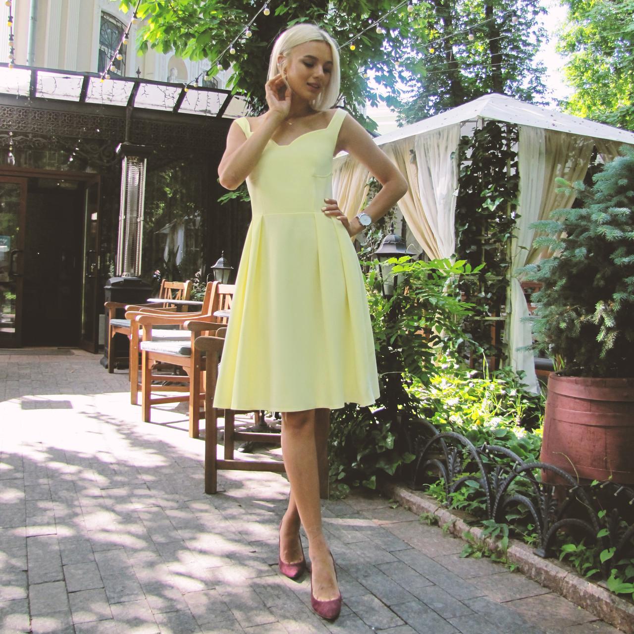 Платье Долли желтое, арт.1013