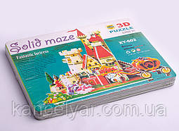 Пазлы 3D: картон, 8 листов, А4, в ассортименте