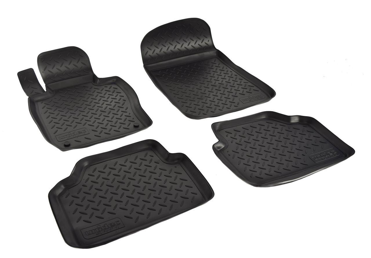 Коврики в салон для BMW 3 (E90) (05-10) (полиур., компл - 4шт) NPL-Po-07-02