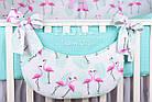 Комплект постельного белья Asik Фламинго мятно-розовые 8 предметов (8-296), фото 8