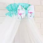 Комплект постельного белья Asik Фламинго мятно-розовые 8 предметов (8-296), фото 10