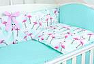 Комплект постельного белья Asik Фламинго мятно-розовые 8 предметов (8-296), фото 4