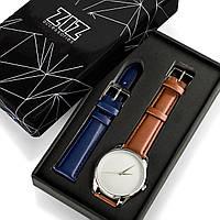 """Часы """"Кофейно-шоколадный минимализм"""" подарок женщине, мужчине, фото 1"""